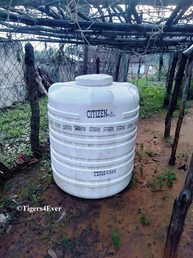 Water Tank Protected from Elephants