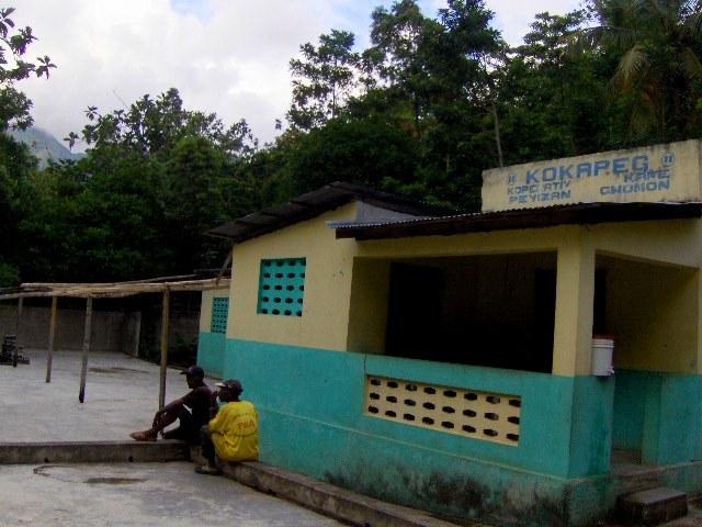 A local grain mill in rural Haiti