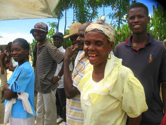Affected community at a local meeting in NW Haiti