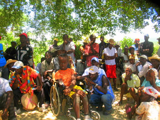 Meeting of a grassroots organization in Haiti