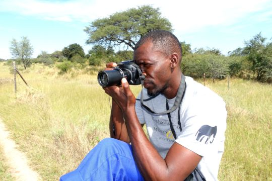 Research Officer Thata observing elephants