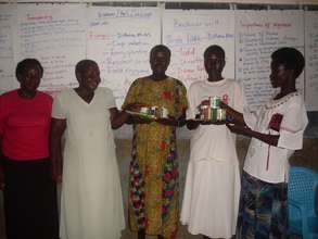 The groups' leaders with some seeds.
