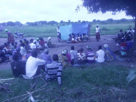 A drama session in the rural community