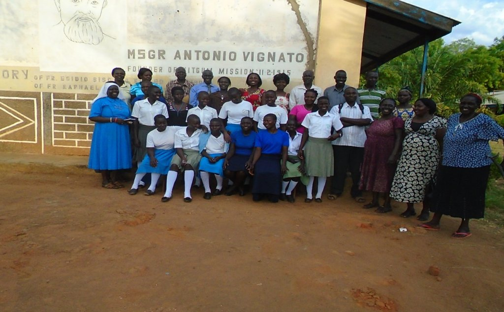 Group photo after a meeting in Kitgum Uganda