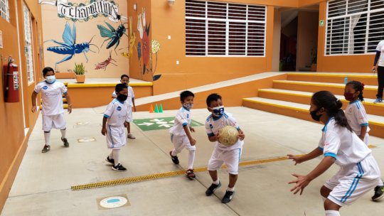 Soccer classes at Community Center