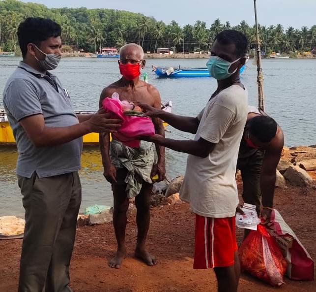 Ration distribution to Endosulfan affected family