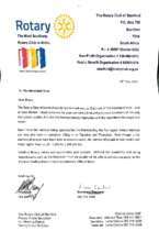 Thank you letter from Rotary Club of Stanford (PDF)