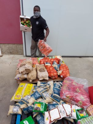 Food Donations bound for Stanford Rotary