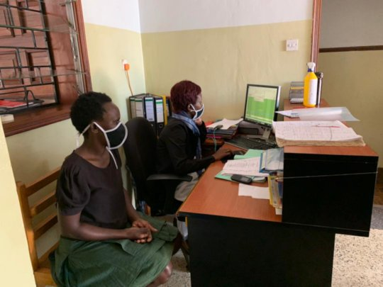 Front Desk Staff ready to receive visitors