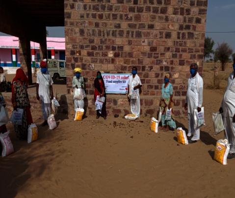 Distribution of Food Supply Kits