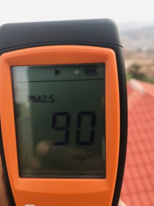One of the air quality detectors we acquired