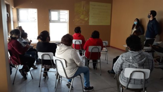 First workshop with the female leaders