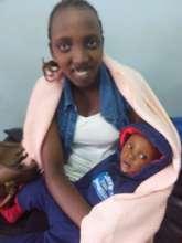 Rachel with her baby Nina