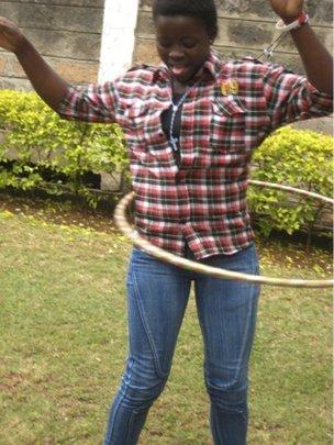Marie loves the hula hoop!