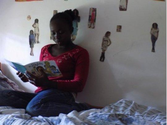 Solange reading her favorite book