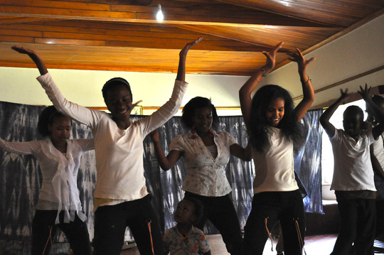 Dance performance at the Safe House