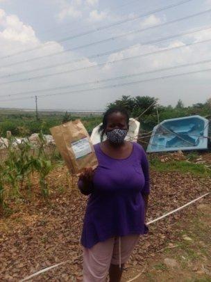 Bosisiwe is finally making good use of her yard