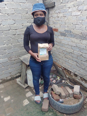Mahlatse is learning to garden in small spaces