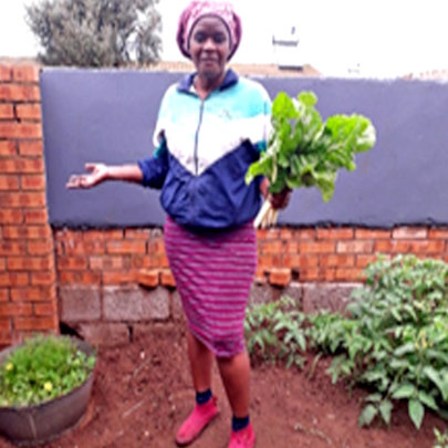 Zandile now has food for her family
