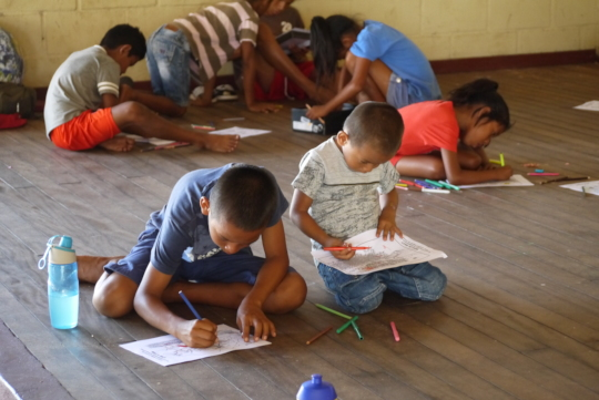 Pre-COVID activities with children at Galibi