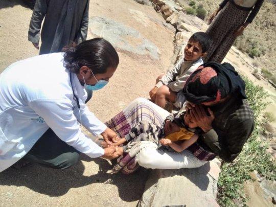 providing Children Healthcare in rural village-Yem