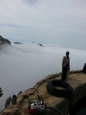 Rural & difficult area to reach-clouds are under h