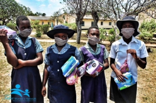 Girls received sanitary pads & hygiene products...