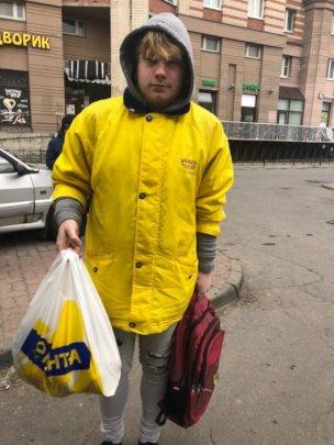 Food parcel for Kiril