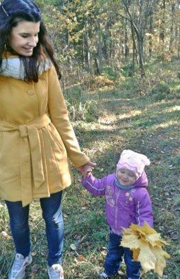 Nastya with her god-daughter