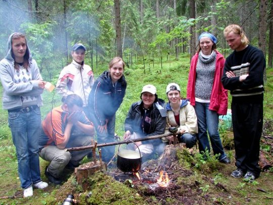 A new experience - cooking on a camp fire