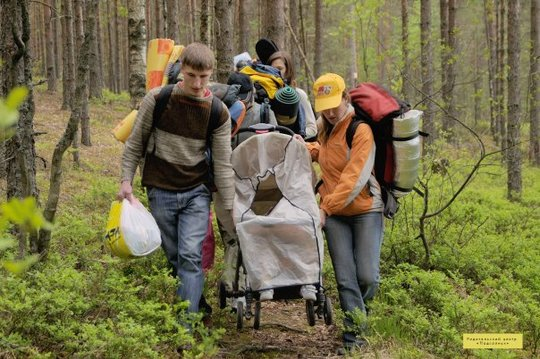 hiking through the forest encourages co-operation