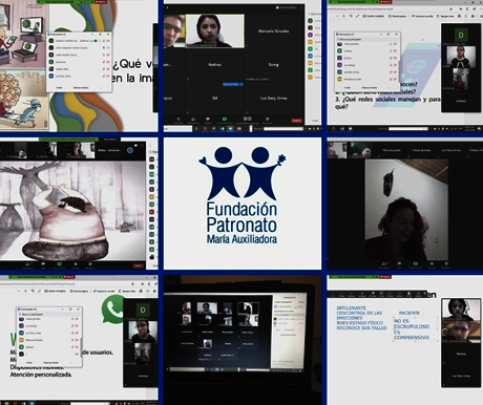 Images of the online therapeutic sessions