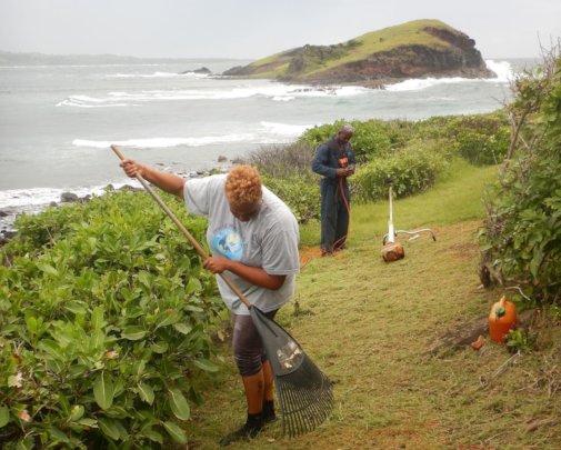 Vital site maintenance at the Maria Islands