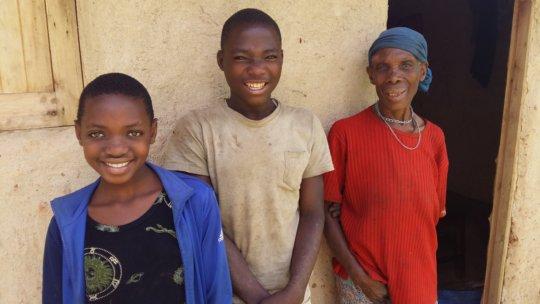 Joyce (Right) With Her Grandchildren