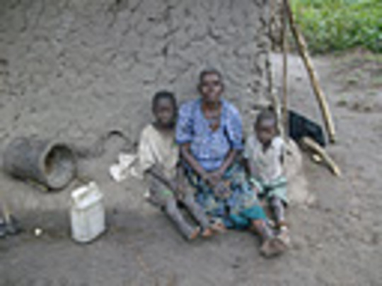 Karigirwa With Her Grandchildren