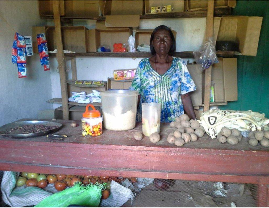 Alice in her shop