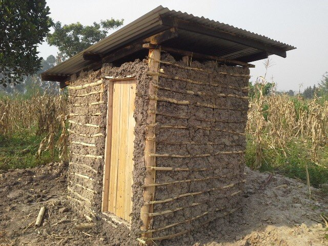 New pit latrine is almost complete