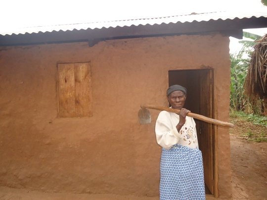 Safinah With Her New Garden Hoe