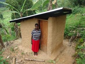 Jovita's new latrine.