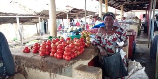 Rose at her market stand