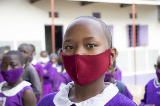 Nyaka Students Wearing Masks