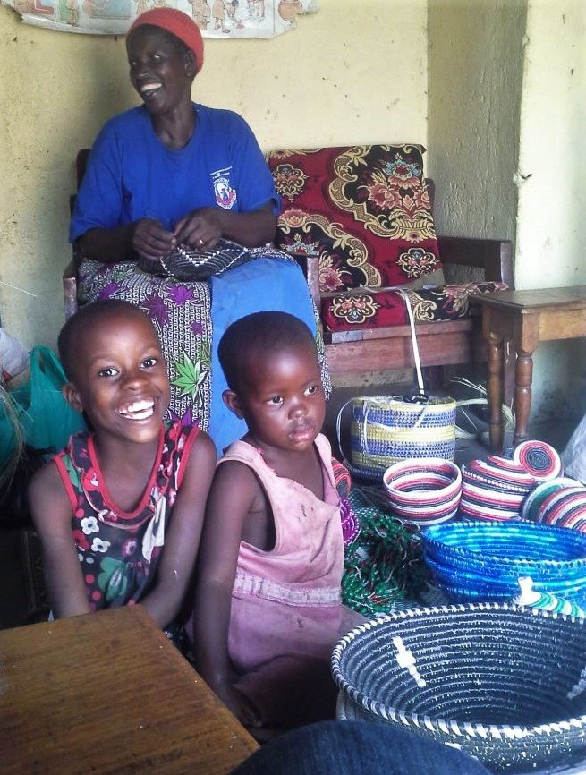 Baraba with two of her grandchildren