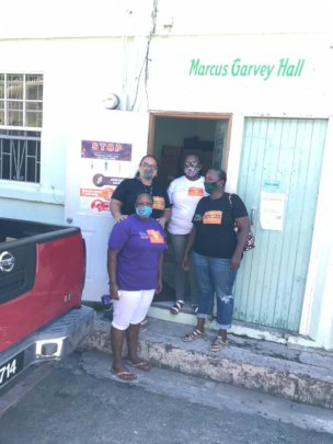Volunteers distributed food supplies in Choiseul