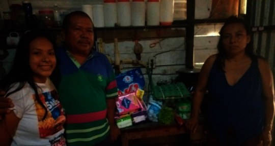 Montalvo Family with their food relief package