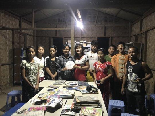 Teachers at Maina IDP camp with their MyLibrary