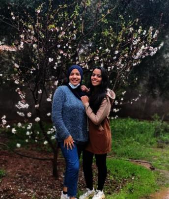 Ghita (right) with co-Facilitator Aziza (left)
