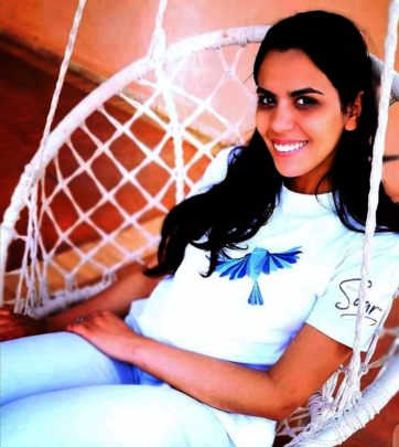Ghita proudly sports her Project Soar t-shirt.