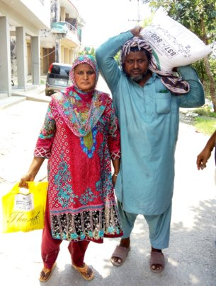 family received dry ration affected covid19