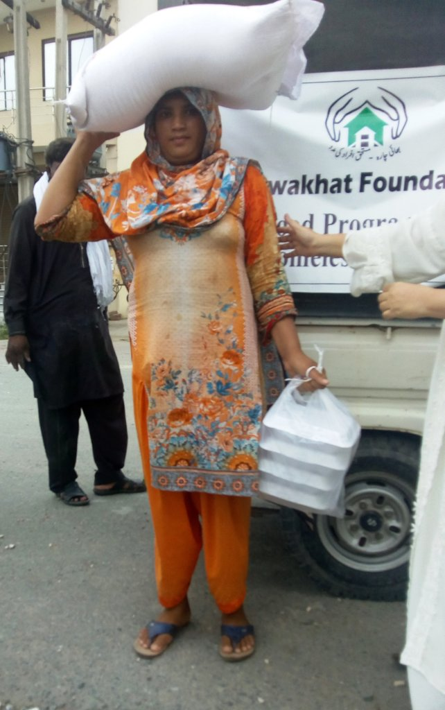 protein meal box and flour bag distributed