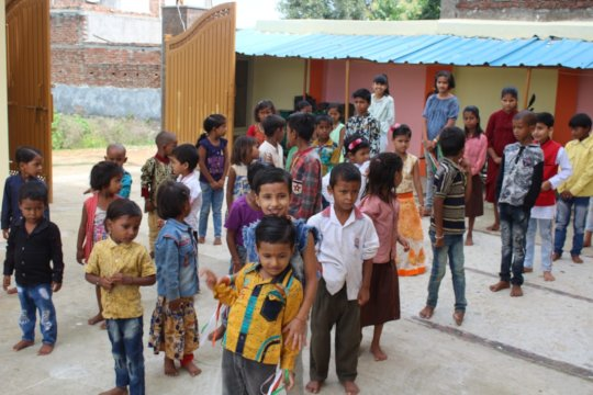 Children visiting the KCWC on Independence Day